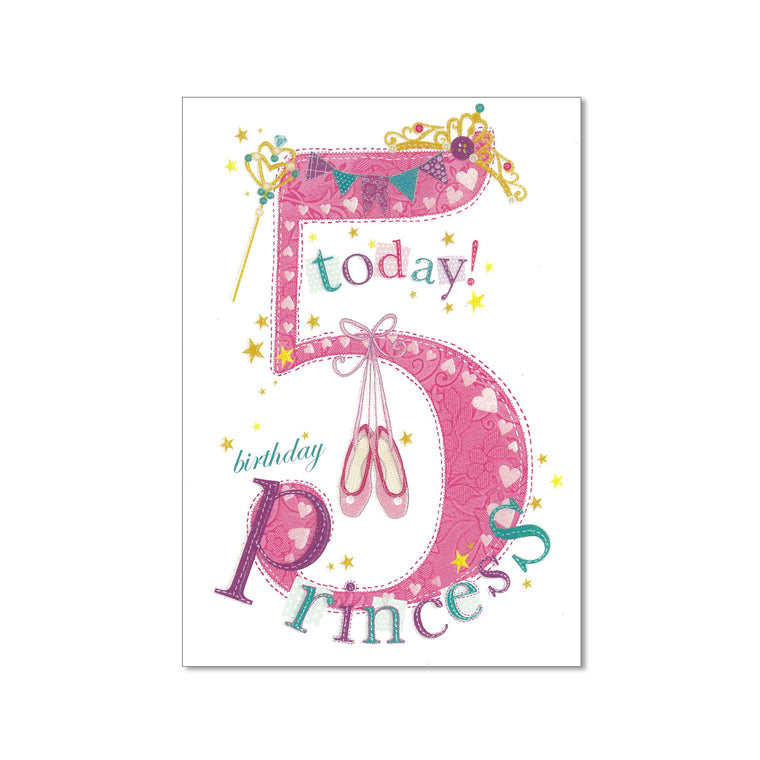 Age 5 Girl Birthday Card