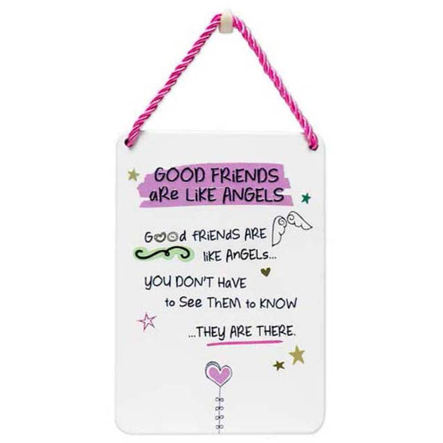 Good Friends Are Like Angels - Plaque