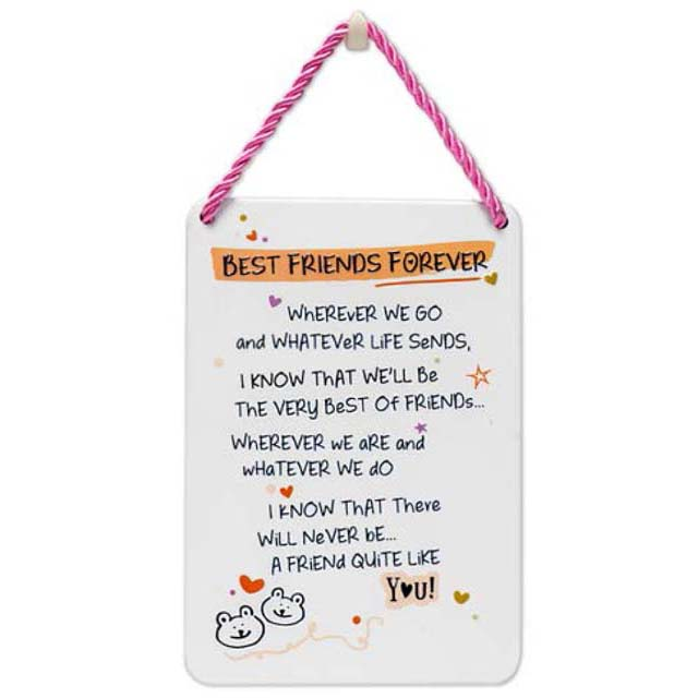 Best Friends Forever - Plaque