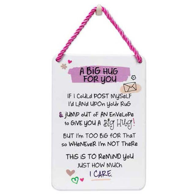 A Big Hug For You - Plaque