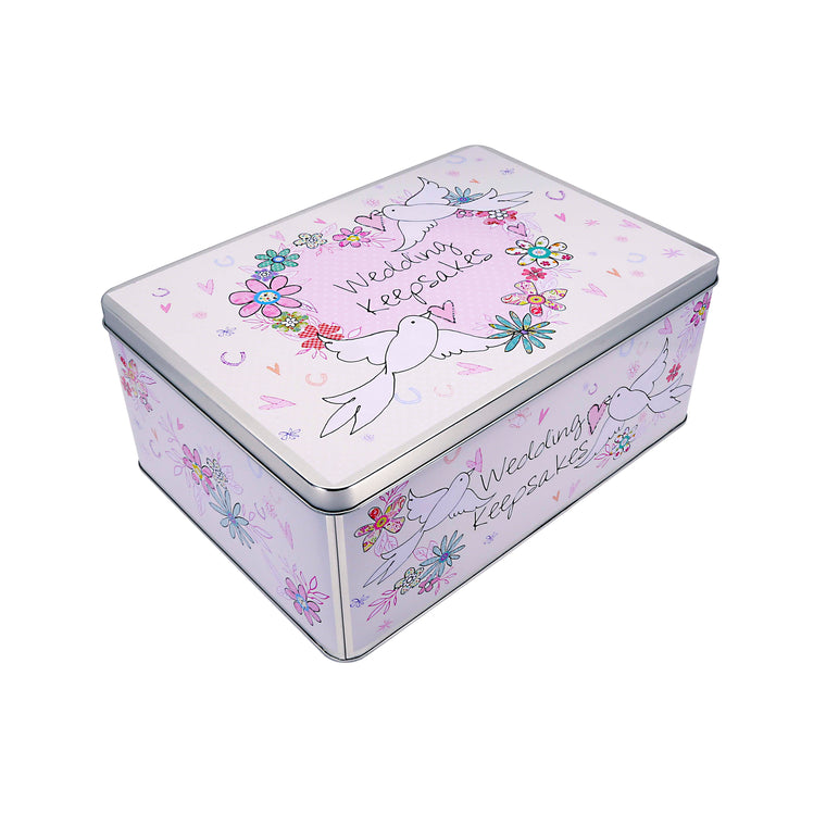 Wedding Keepsakes - Large Rectangular Keepsake Tin
