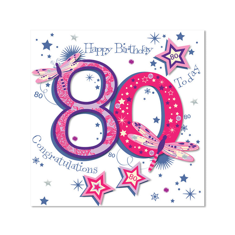 Age 80 Female Birthday Card