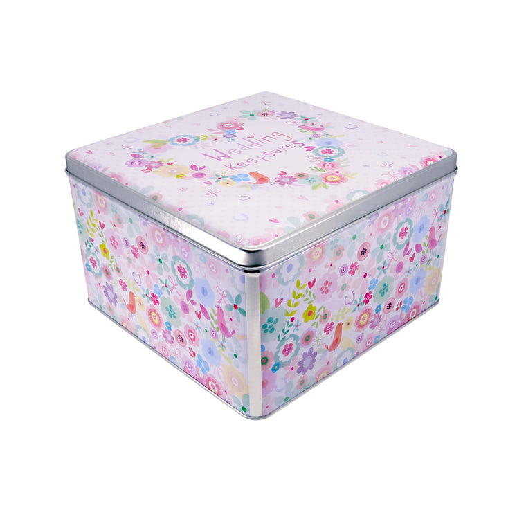 Wedding Keepsakes - Large Square Keepsake Tin