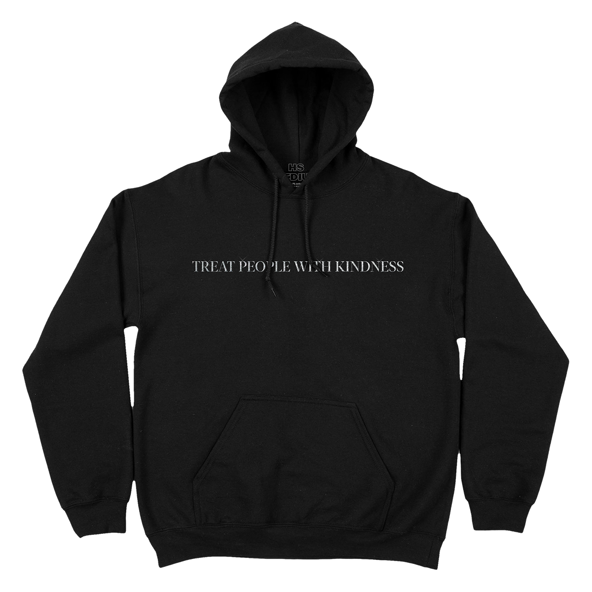 Treat People With Kindness Hoodie (Metallic Silver Embroidery)