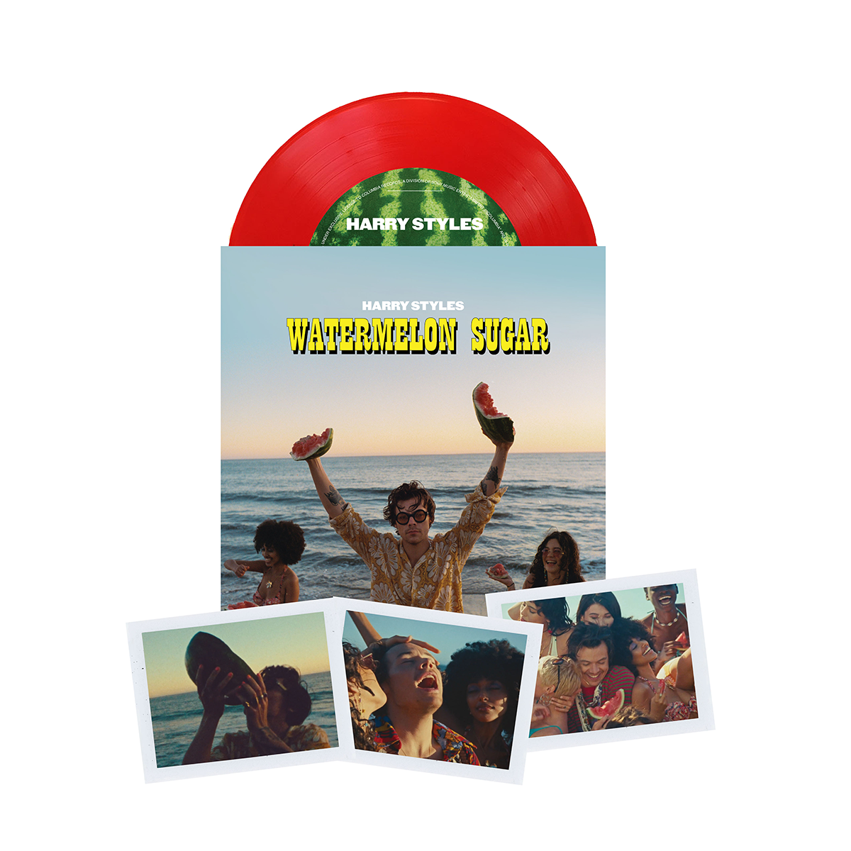 "Limited Edition ""Watermelon Sugar"" Translucent Red 7"" Vinyl"