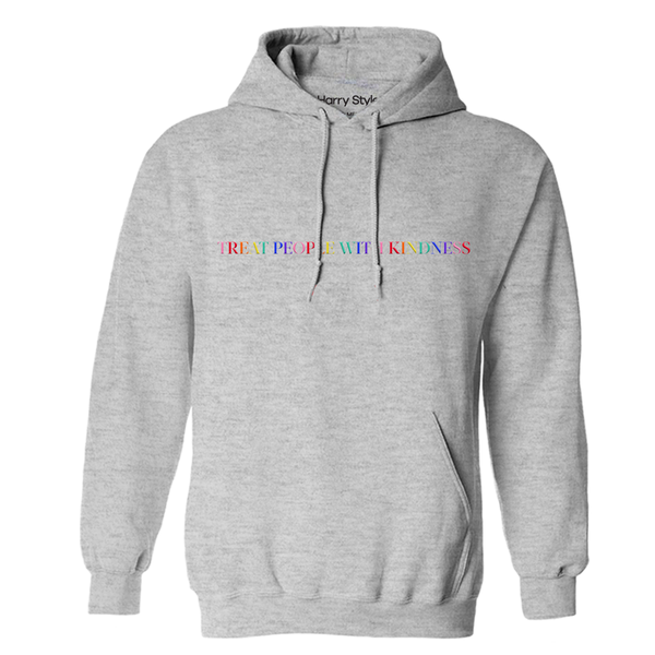 Treat People With Kindness Hoodie (Grey) - Harry Styles Australia
