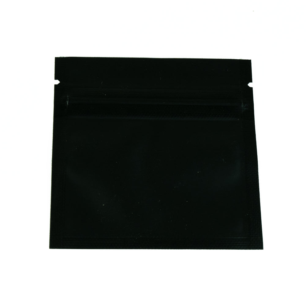 Load image into Gallery viewer, Flat Pouches / Mylar Bags 7x7cm (Matt Black/Clear)