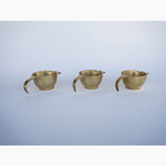 Brass Cigarette Rest Tealight Trio