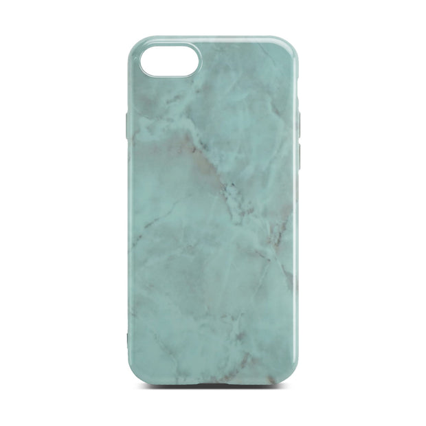 Green Glossy Marble Case For iPhone 8