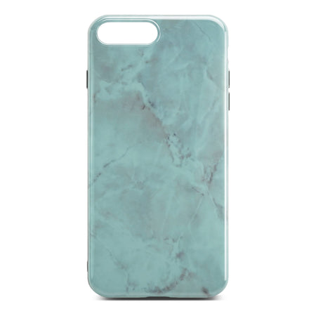 Green Glossy Marble Case For iPhone 8 Plus