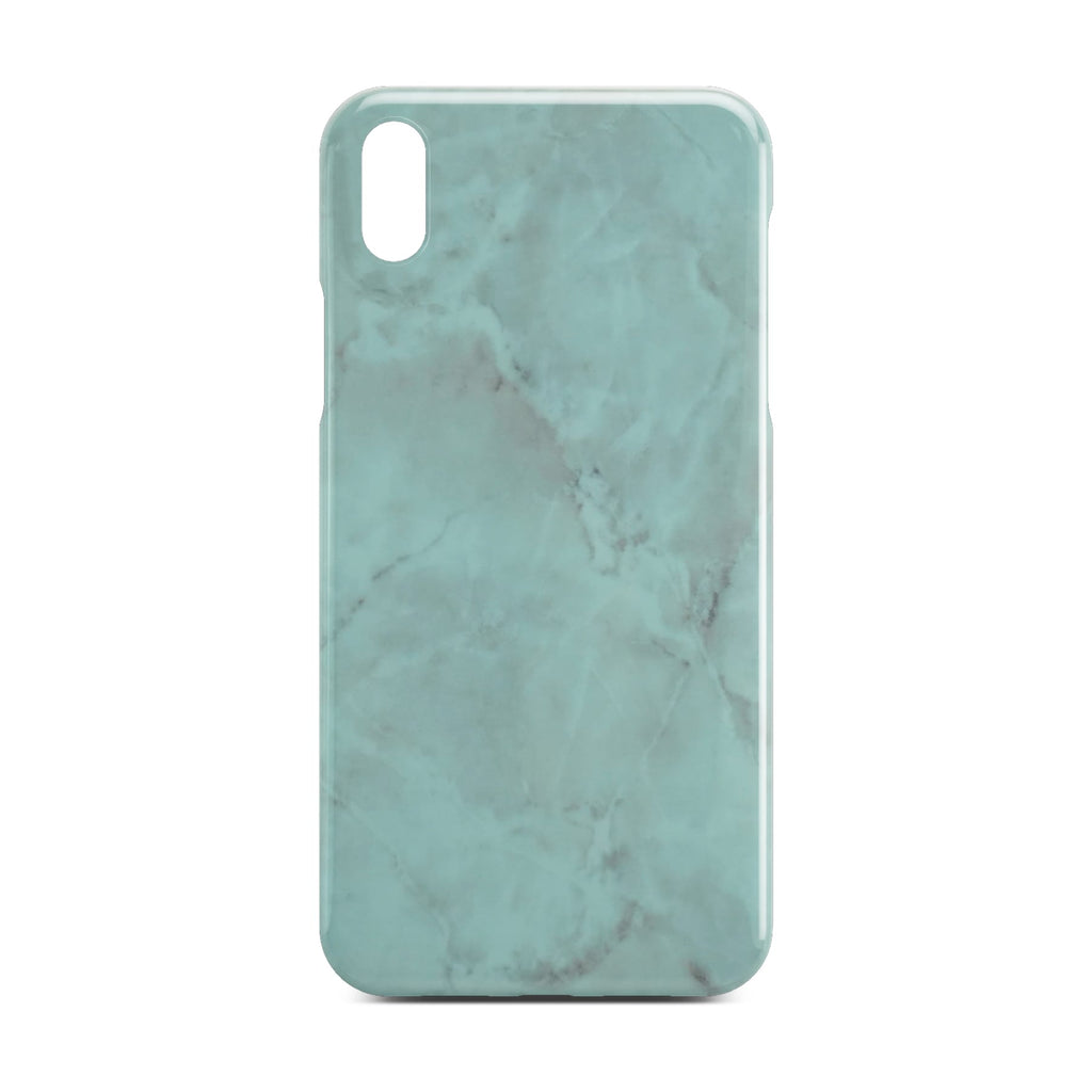 Green Glossy Marble Case For iPhone X