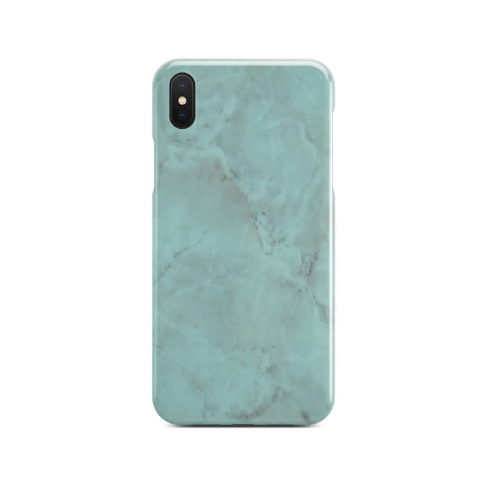 Green Glossy Marble Case On Black iPhone X