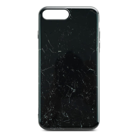 Black Glossy Marble Case For iPhone 8 Plus