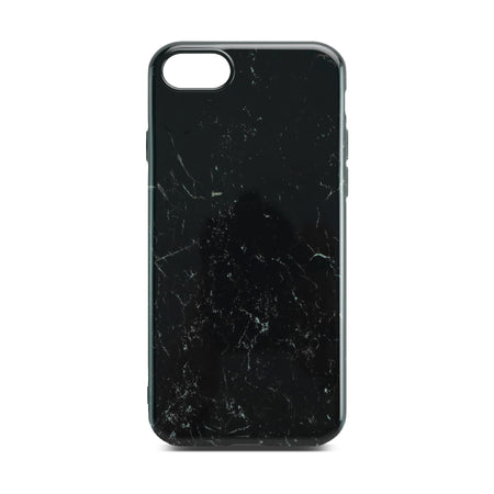 Black Glossy Marble Case for iPhone 8 / 7