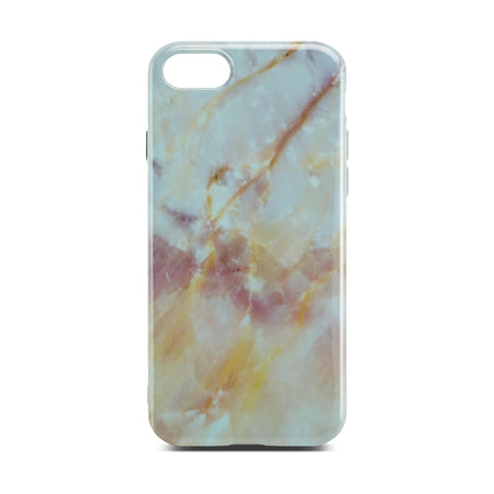 Yellow And White Marble Case For iPhone 8