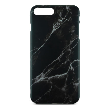 Matt Black Marble Case For iPhone 8 Plus
