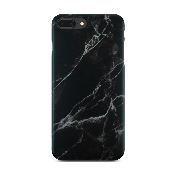 Matt Black Marble Case On Black iPhone 8 Plus