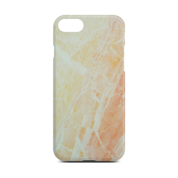 Matt Yellow Marble Case For iPhone 8