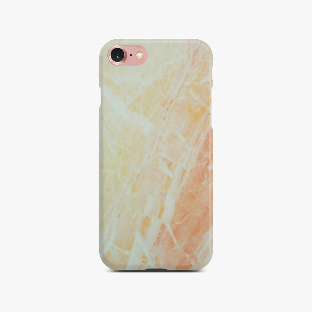 Matt Yellow Marble Case On Rose Gold iPhone 8