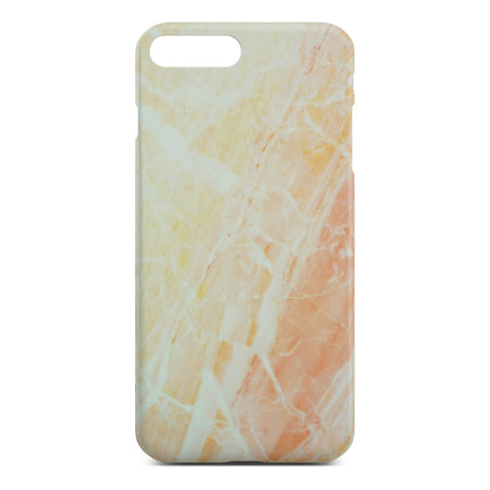 Matt Yellow Marble Case For iPhone 8 Plus