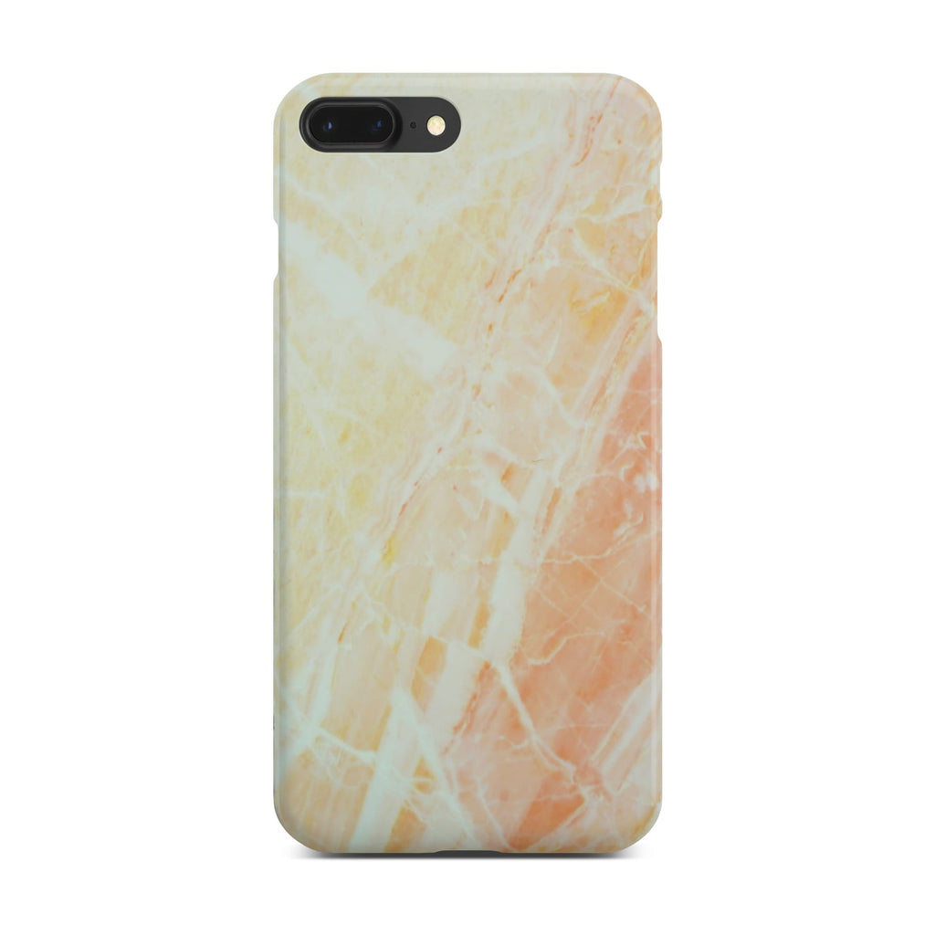 Matt Yellow Marble Case On Space Gray iPhone 8 Plus