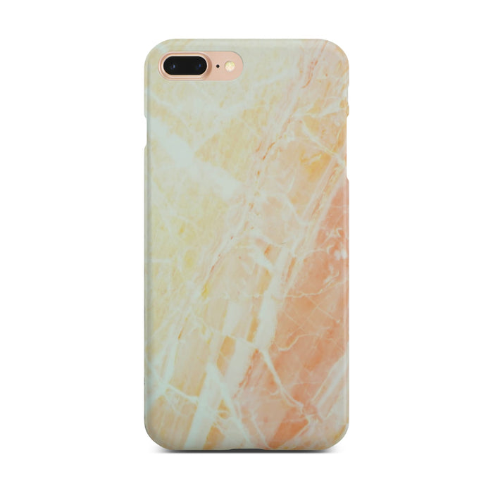 Matt Yellow Marble Case On Gold iPhone 8 Plus