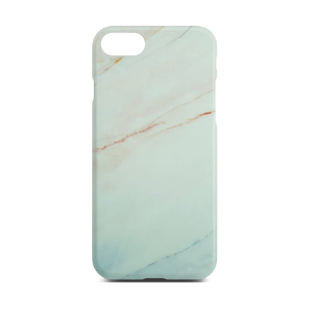 Matt White Marble Case For iPhone 8