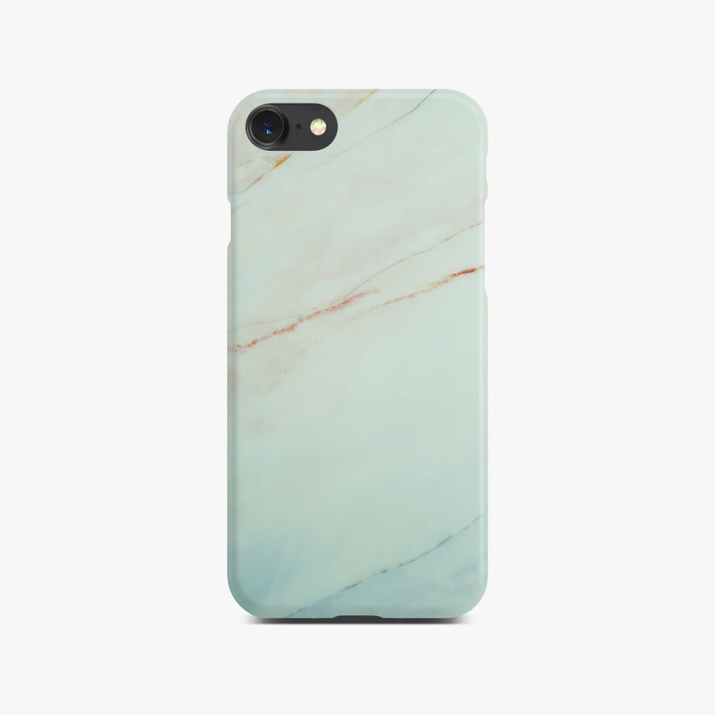 Matt White Marble Case On Space Gray iPhone 8