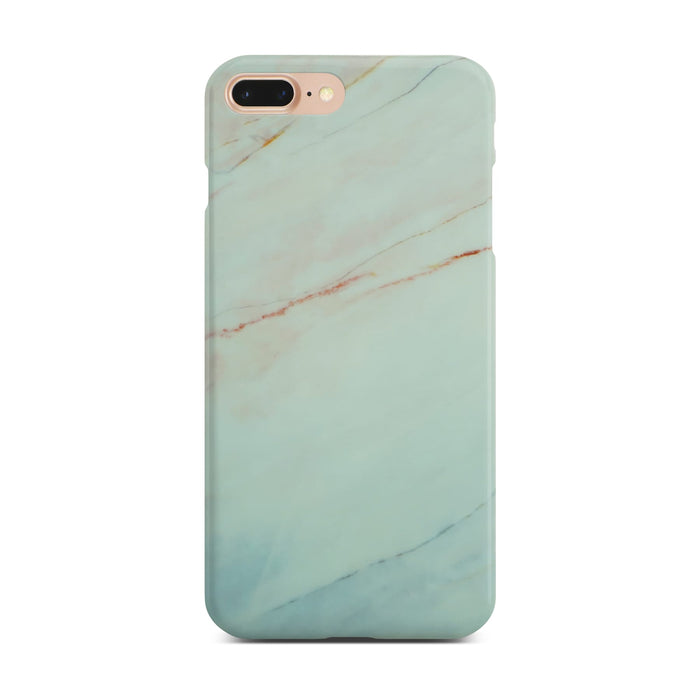Matt White Marble Case On Gold iPhone 8 Plus