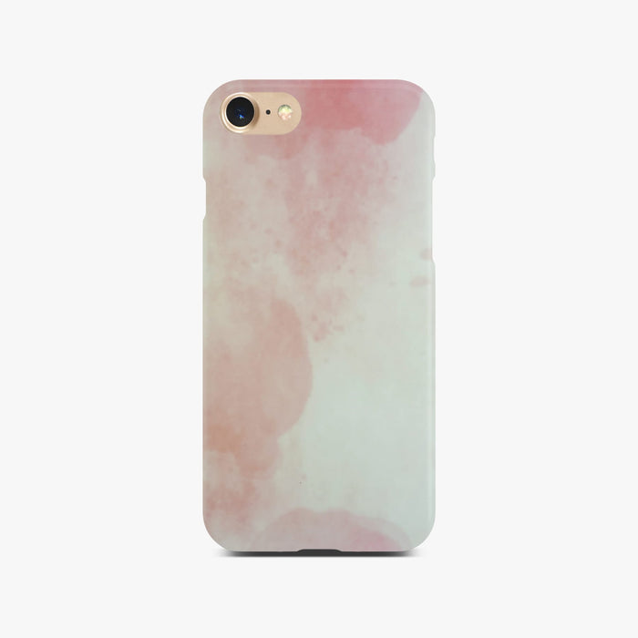 Matt Pink Marble Case On Gold iPhone 8