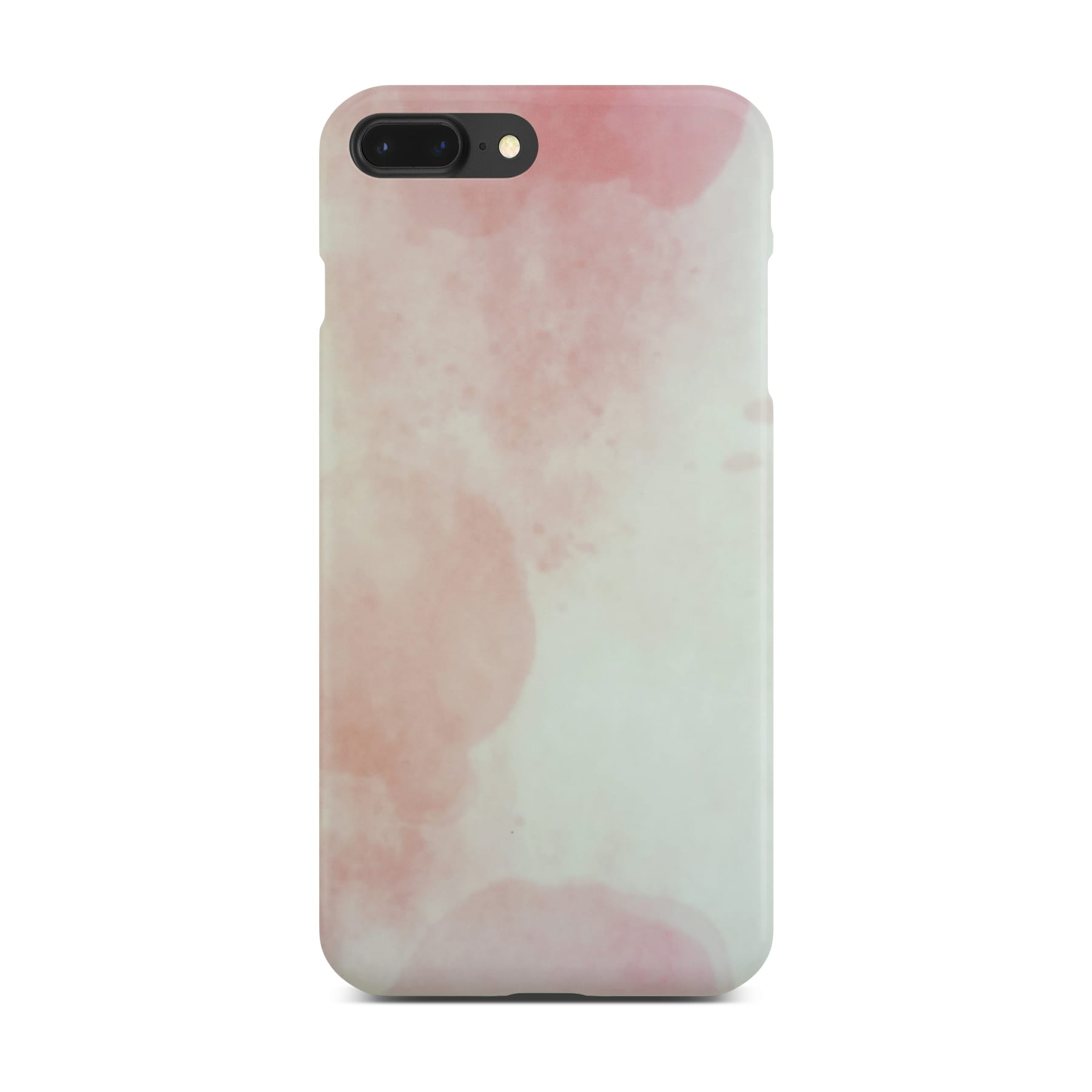 Matt Pink Marble Case On Space Gray iPhone 8 Plus