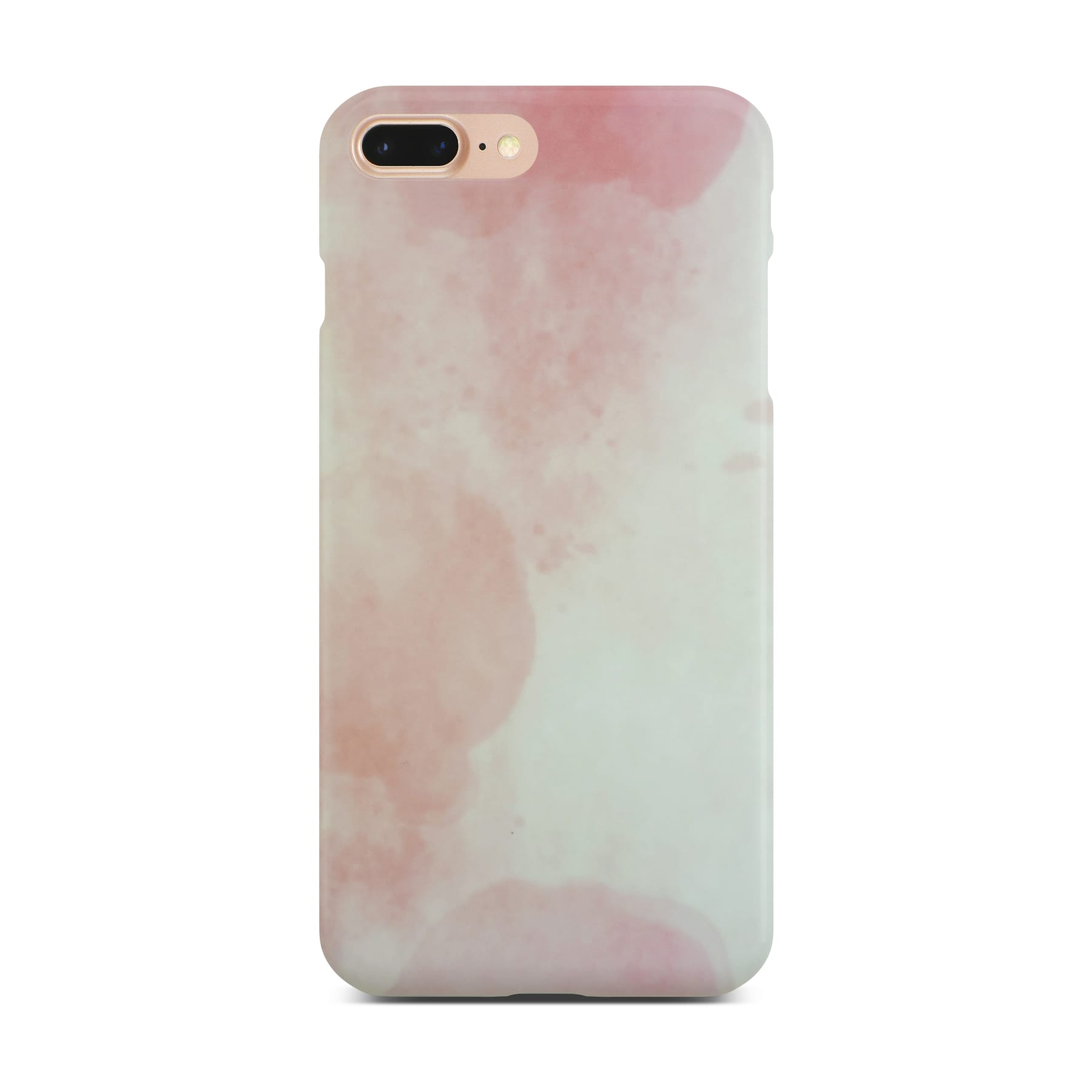 Matt Pink Marble Case On Gold iPhone 8 Plus