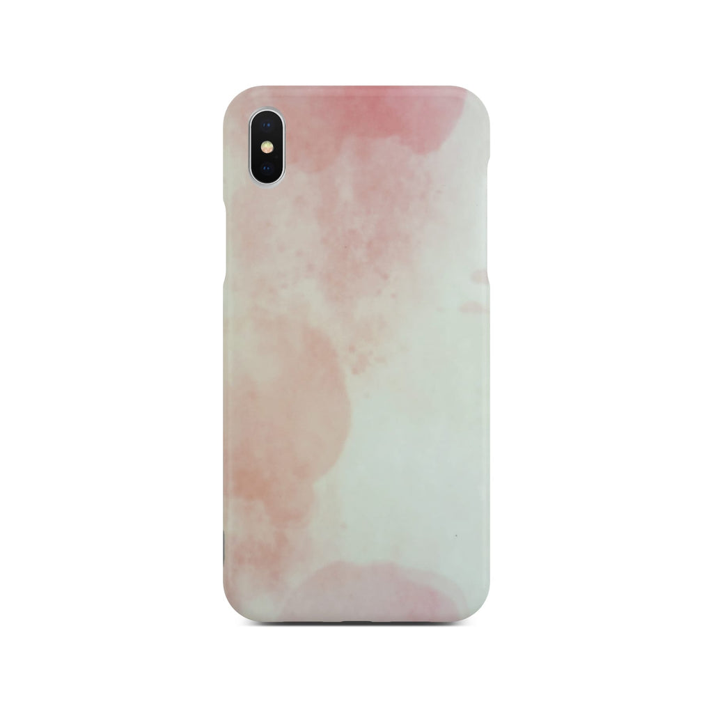 Matt Pink Marble Case On Silver iPhone X