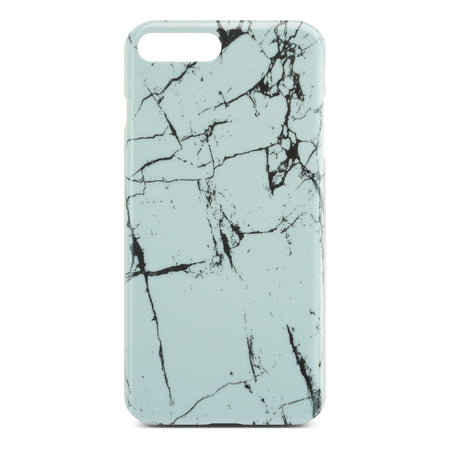 White Glossy Marble Case (Half Warp) For iPhone 8 Plus