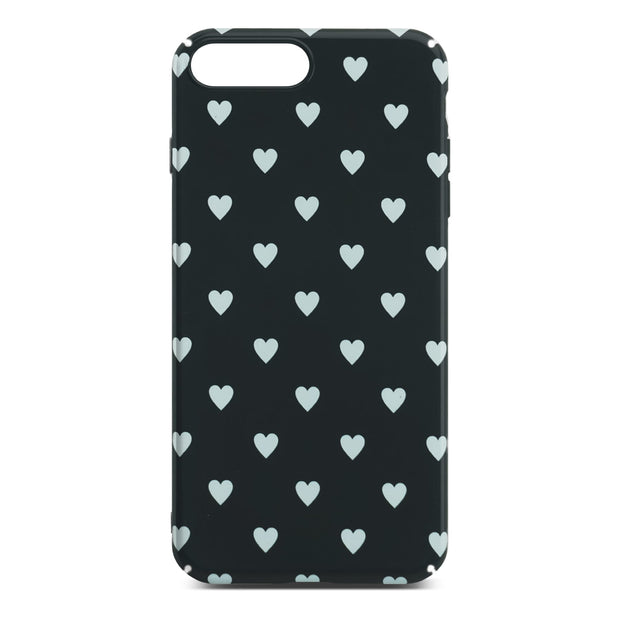Black Heart Slim Case For iPhone 8 Plus