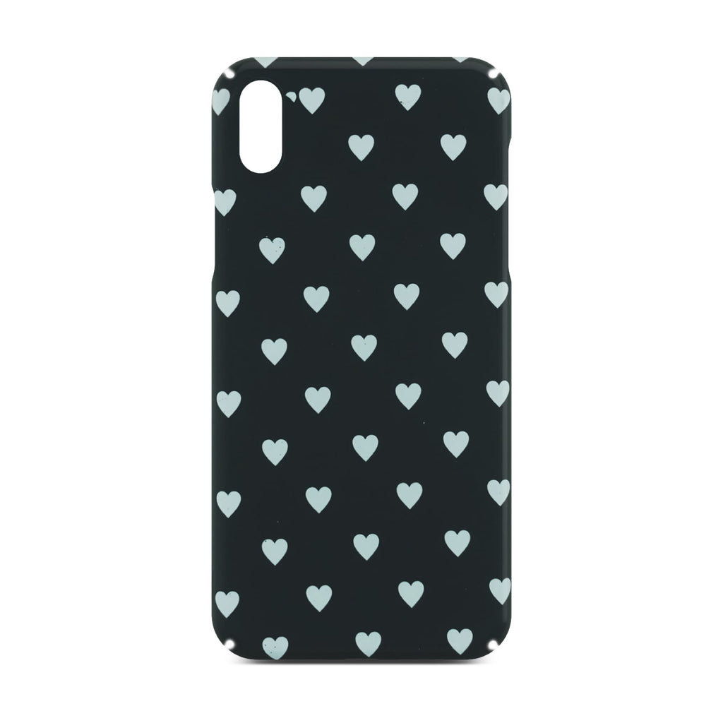 Black Heart Slim Case For iPhone X
