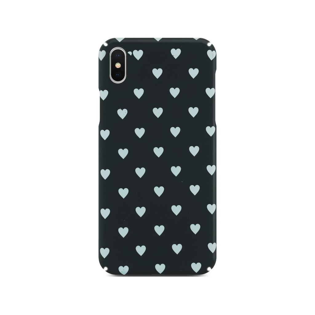 Black Heart Slim Case On Silver iPhone X