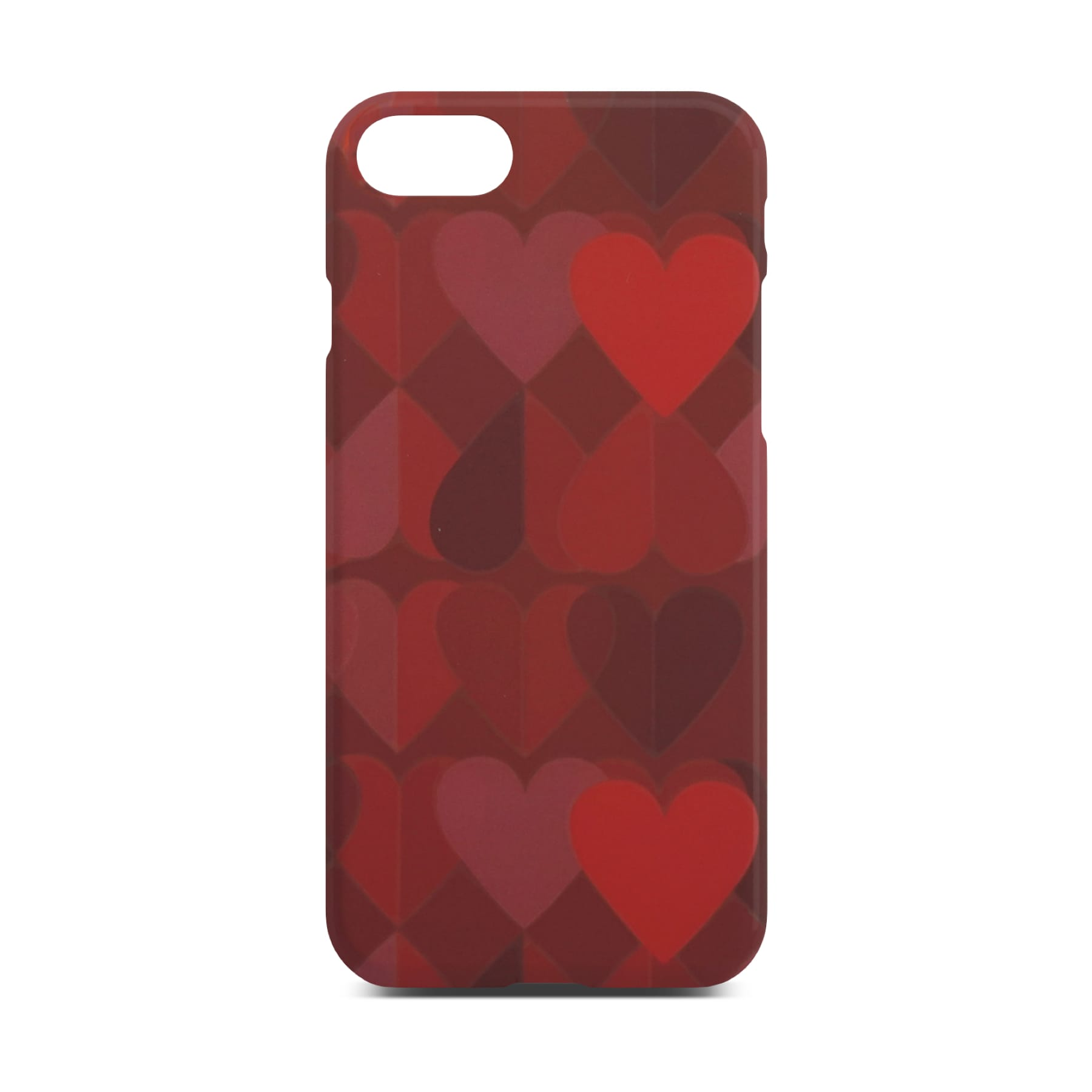 Red Heart Slim Case For iPhone 8