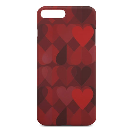 Red Heart Slim Case For iPhone 8 Plus