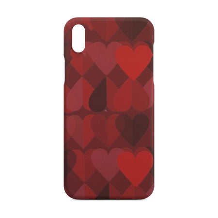 Red Heart Slim Case for iPhone X