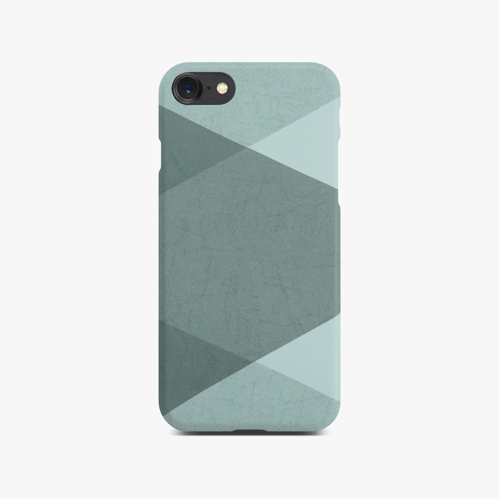 Grey Abstract Slim Case on Space Gray iPhone 8
