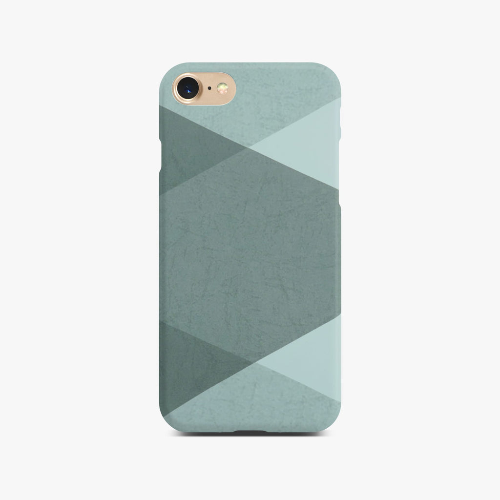 Grey Abstract Slim Case on Gold iPhone 8