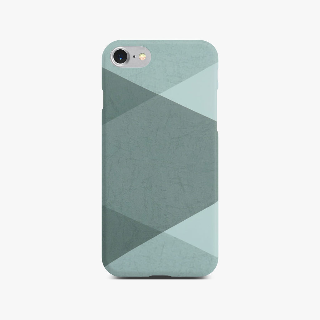 Grey Abstract Slim Case on Silver iPhone 8