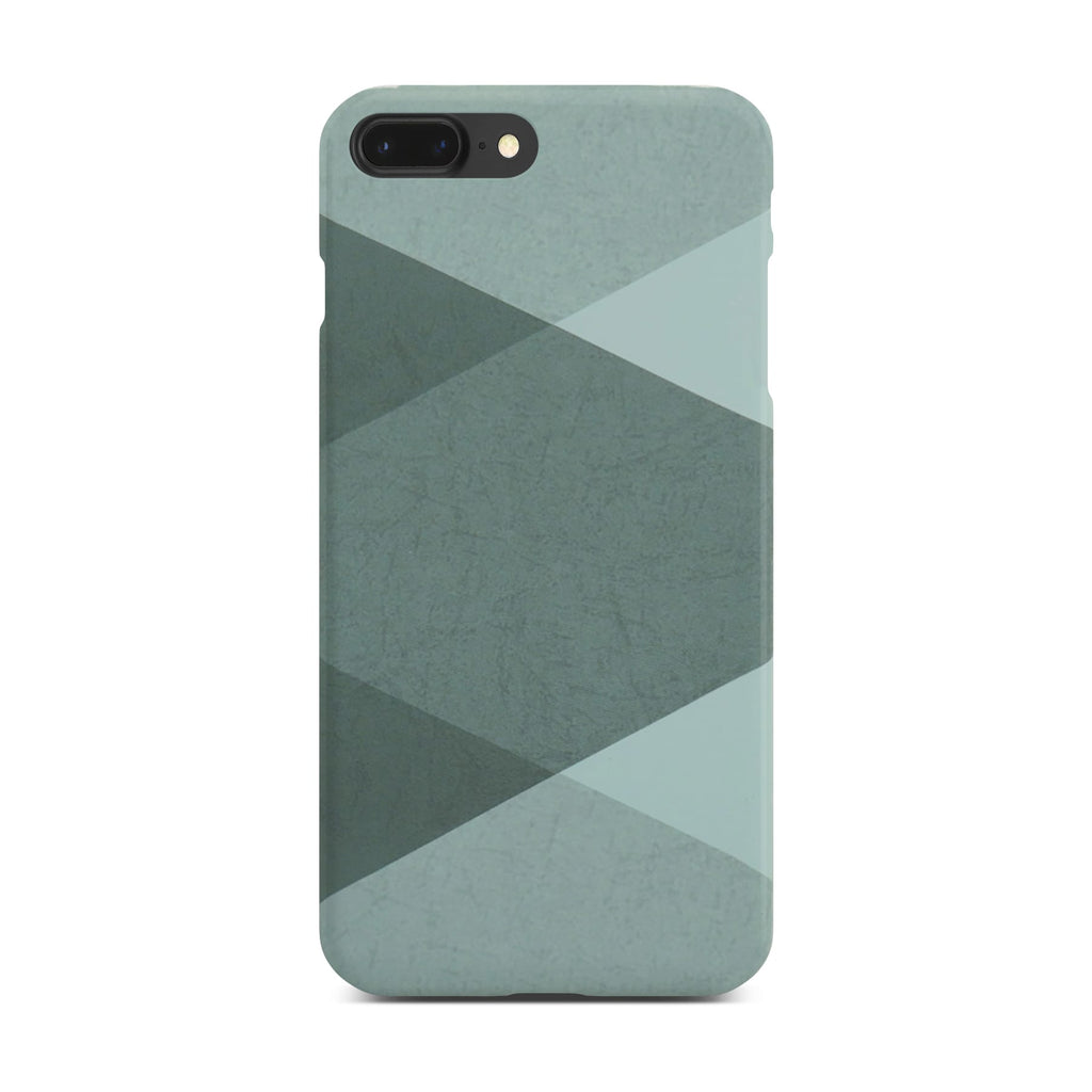 Grey Abstract Slim Case On Space Gray iPhone 8 Plus