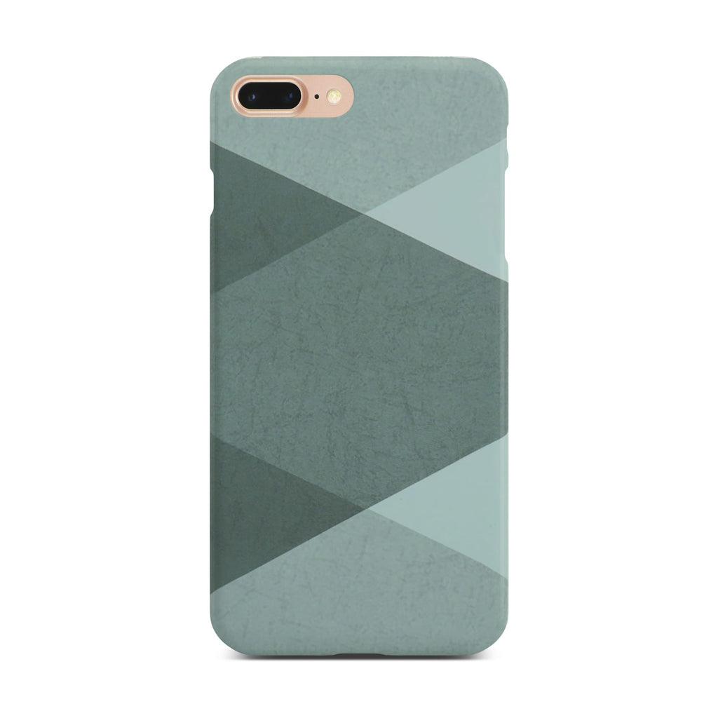 Grey Abstract Slim Case On Gold iPhone 8 Plus