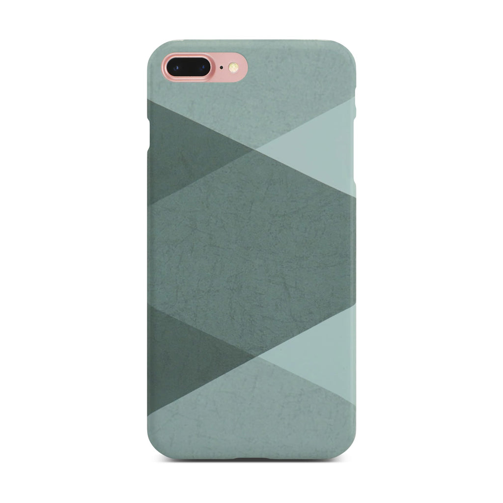 Grey Abstract Slim Case On Rose Gold iPhone 8 Plus