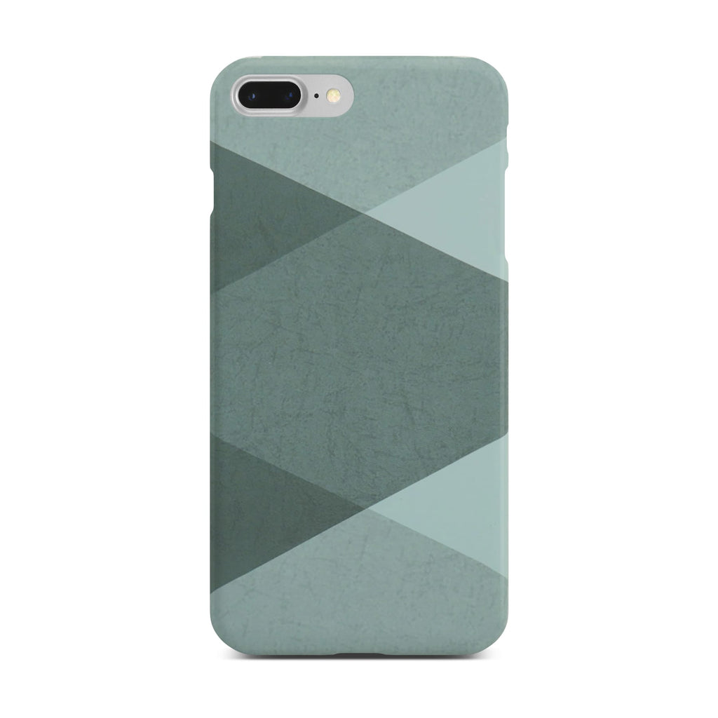 Grey Abstract Slim Case On Silver iPhone 8 Plus