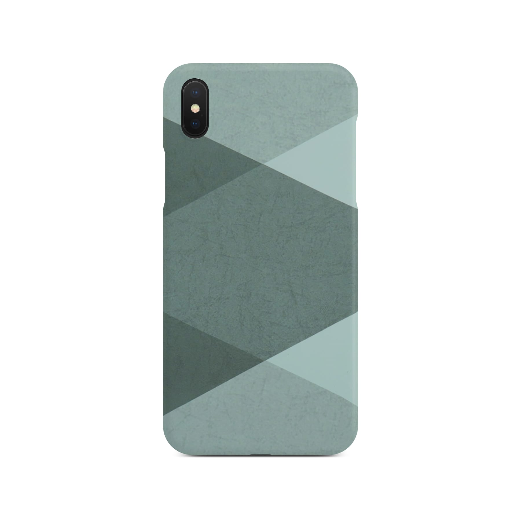 Grey Abstract Slim Case On Space Gray iPhone X