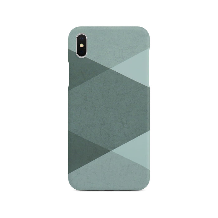 Grey Abstract Slim Case On Silver iPhone X