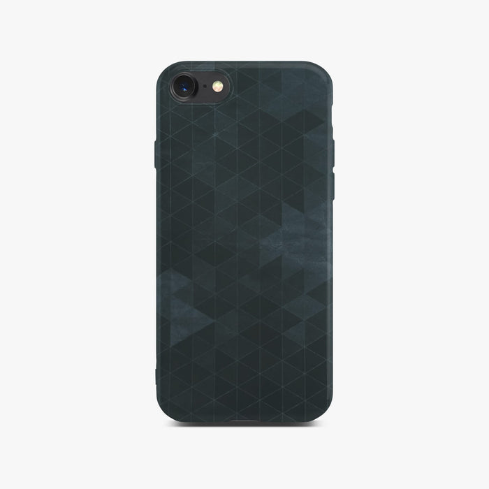Black Polygon Slim Case on Space Gray iPhone 8
